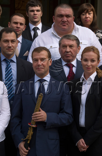 President Medvedev meets SCG champions