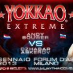 Джабар Аскеров vs. Энди Сауэр в главном бою Yokkao Extreme 2013.
