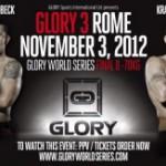 Результаты восьемерки Glory 3 Rome