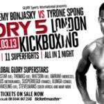 Полная файткарта Glory 5 в Лондоне 23 марта