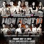 Официальный постер LION FIGHT 10