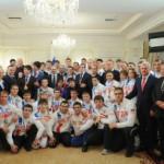 Владимир Путин встретился с победителями II Всемирных игр боевых искусств