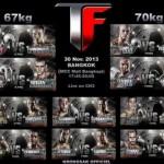 Файткарта THAI FIGHT 30 ноября