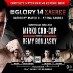 Файткарта GLORY 14 Zagreb 8 марта