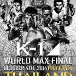 Финал K-1 World Max 4 октября в Паттайе