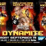Bellator объявляет Dynamite!! 19 сентября в Сан Хосе совместное шоу с GLORY