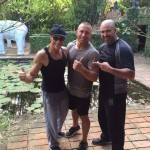 Ван Дамм и звезды UFC на съемках фильма Кикбоксер