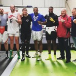 (English) Verhoeven and Adegbuyi training together at Tyson Fury